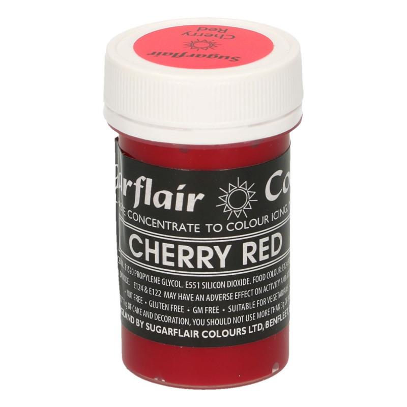 Colorante en pasta Gama Pastel Rojo Cereza Cherry Red  Sugarflair