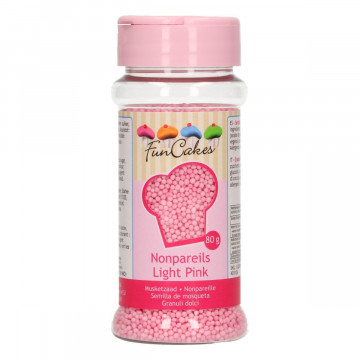 Sprinkles Nonpareils Rosa Mini perlitas Funcakes