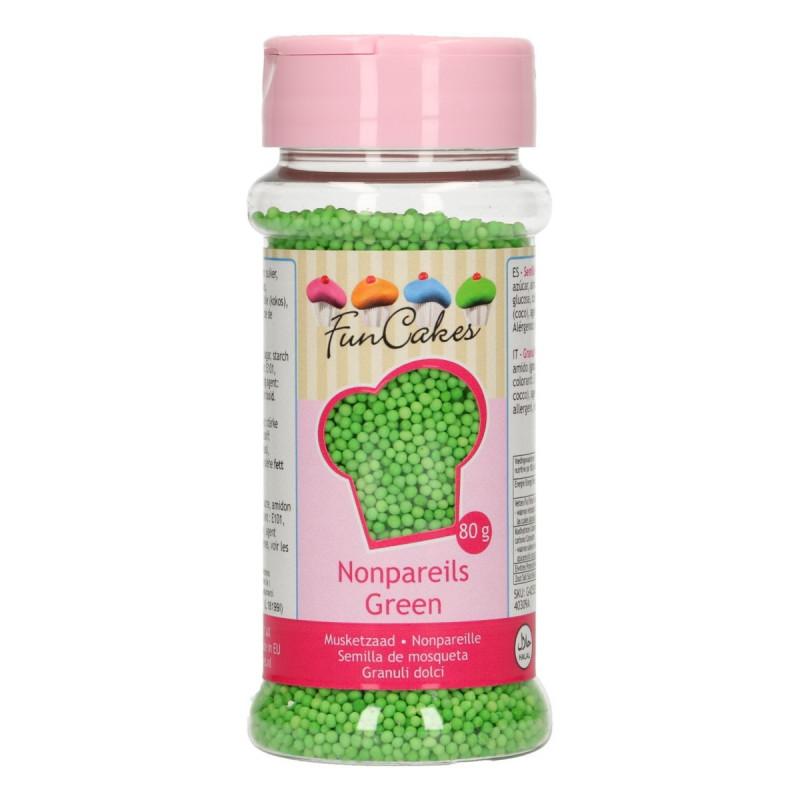 Sprinkles Nonpareils Verde Mini perlitas Funcakes