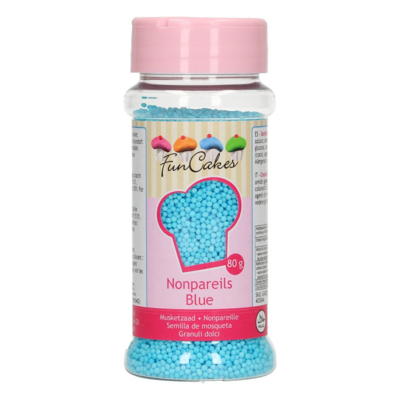 Sprinkles Nonpareils Azul Mini perlitas Funcakes