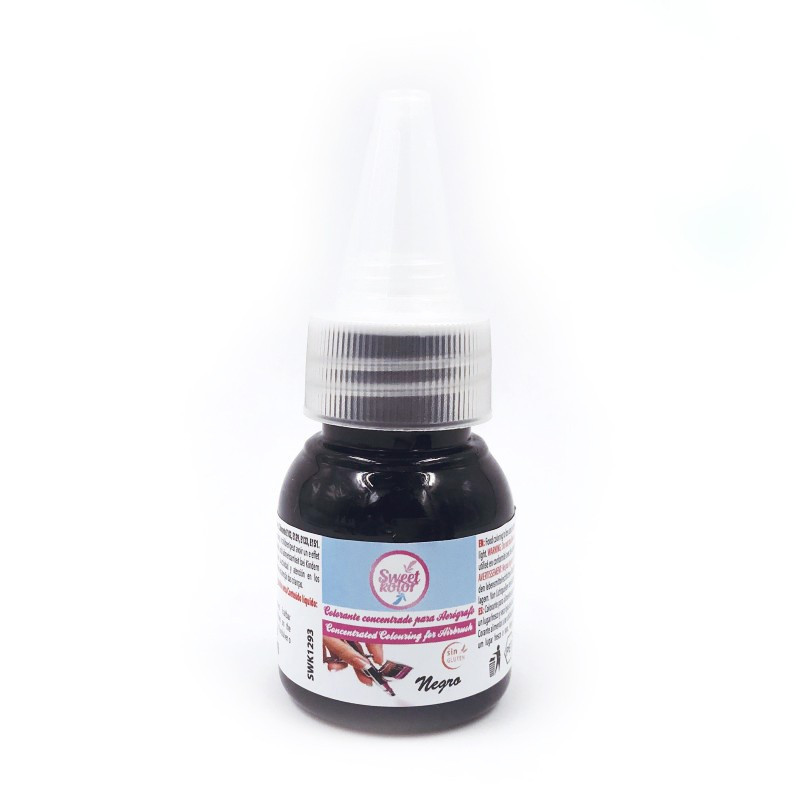 Colorante para aerógrafo Negro 35 ml SweetKolor