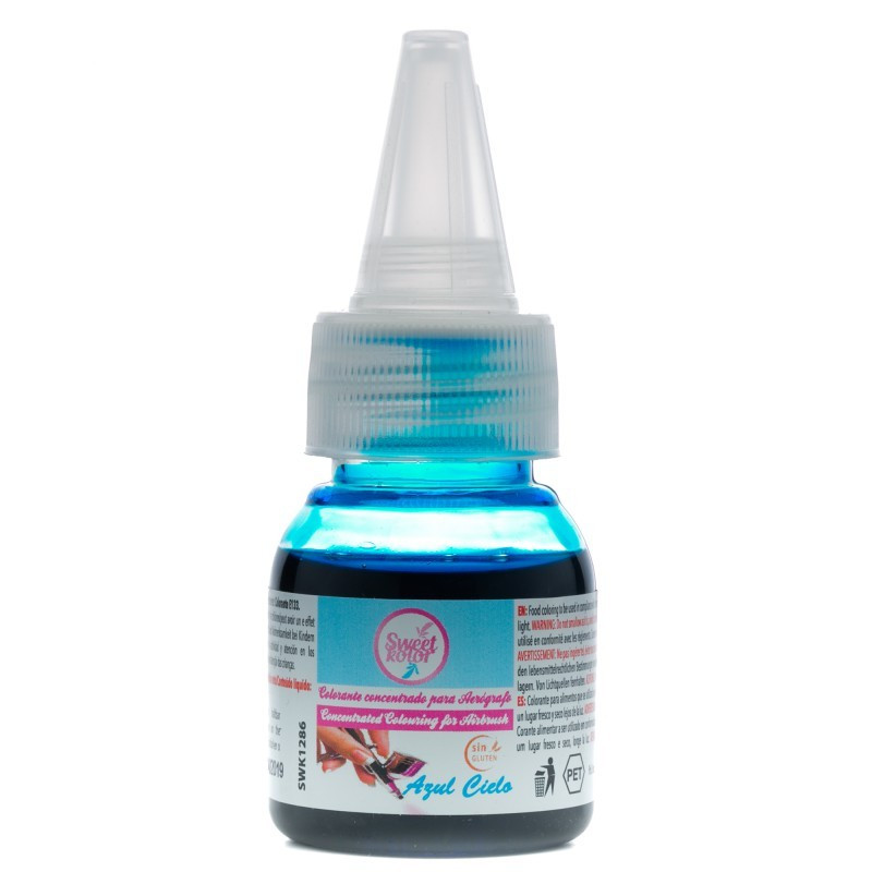 Colorante para aerógrafo Azul Cielo 35 ml SweetKolor