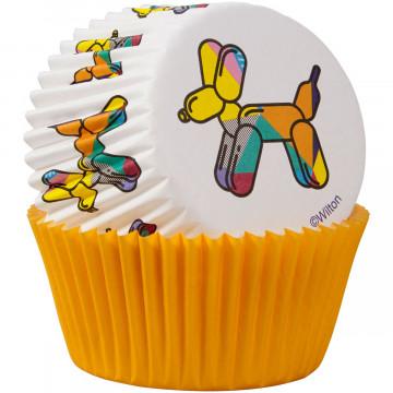 Cápsulas de cupcakes Perro Globo y Amarillo Wilton