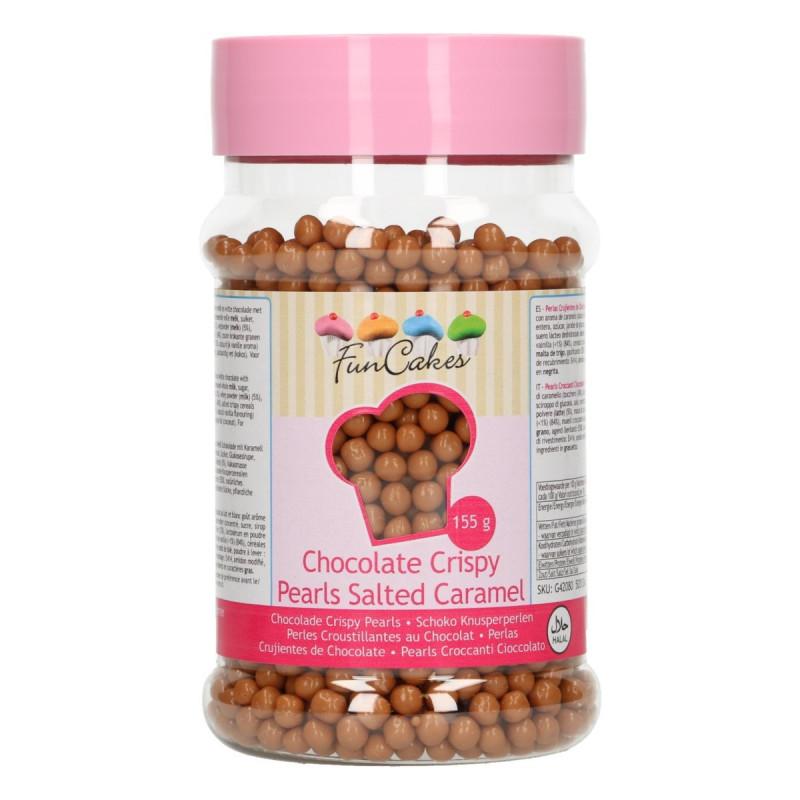 Perlitas de Chocolate y cereales de Caramelo Salado 155 gr Funcakes