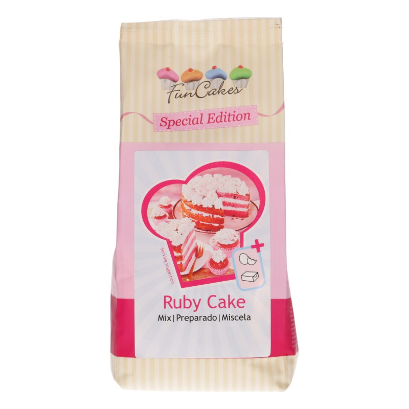 Preparado de bizcocho Ruby Cake 400 gr Funcakes