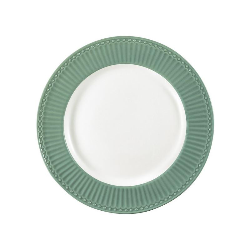 Plato de cerámica 25 cm Alice Dusty Green Green Gate