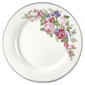 Plato de cerámica 25 cm Rose White Green Gate