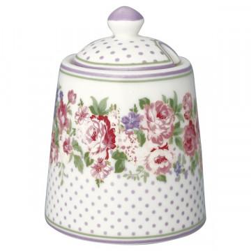 Azucarero de cerámica Rose White Green Gate