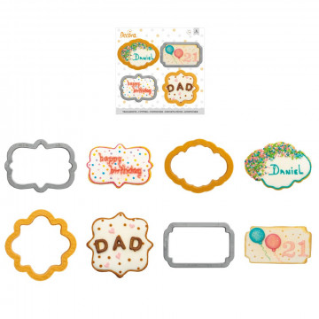 Pack de 4 cortantes Marcos con bordes decorados Decora italia