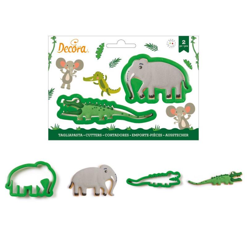 Pack de 2 cortantes Elefante y Cocodrilo Decora Italia