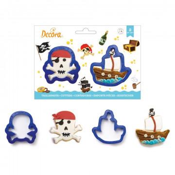 Pack de 2 cortantes Calavera y Barco Pirata Decora Italia