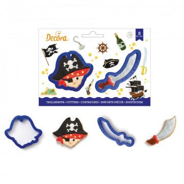 Pack de 2 cortantes Pirata y Espada Decora Italia