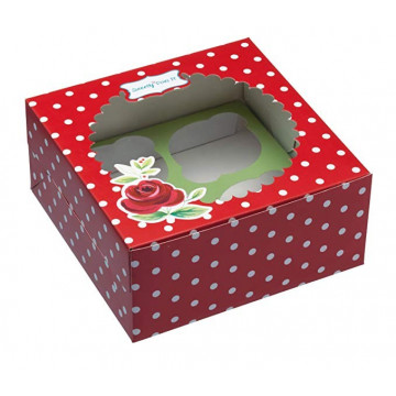 Cajas, pack 2 cajas para 4 cupcakes Jardín Secreto Kitchen Craft