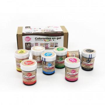 Pack de 8 colorantes en gel Sweet Kolor