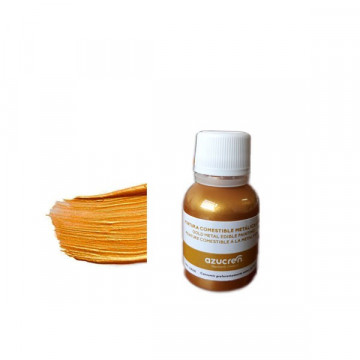 Pintura comestible Metalizada Oro 25 ml Azucren