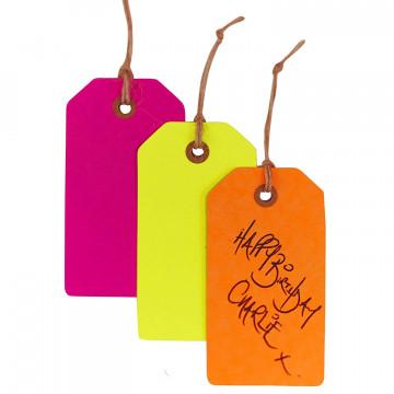Pack de 12 etiquetas colores Neon