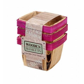 Pack de 3 cestas de madera