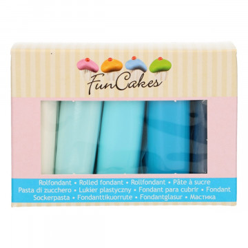 Pack de 5 fondant Paleta de Azules 100gr Funcakes