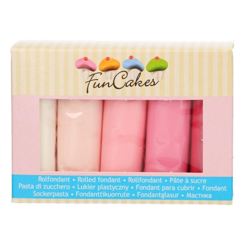 Pack de 5 fondant Paleta de Rosas 100gr Funcakes