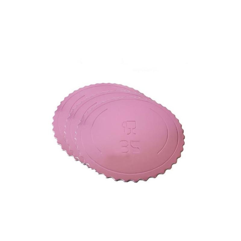 Bandeja redonda 35 cm x 3 mm Rosa Extra Fuerte