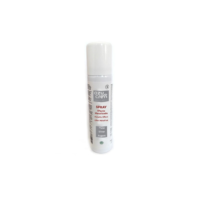 Spray Plata Metalizado 75 ml Azucren