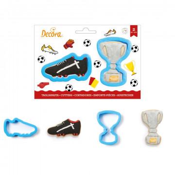 Pack de 2 cortantes Bota de Fútbol y Trofeo Decora Italia