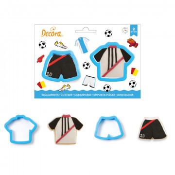 Pack de 2 cortante Camiseta y Pantalón Fútbol Decora Italia