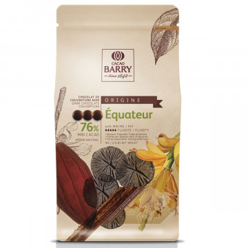Chocolate negro al 76% Origen Ecuador Cacao Barry
