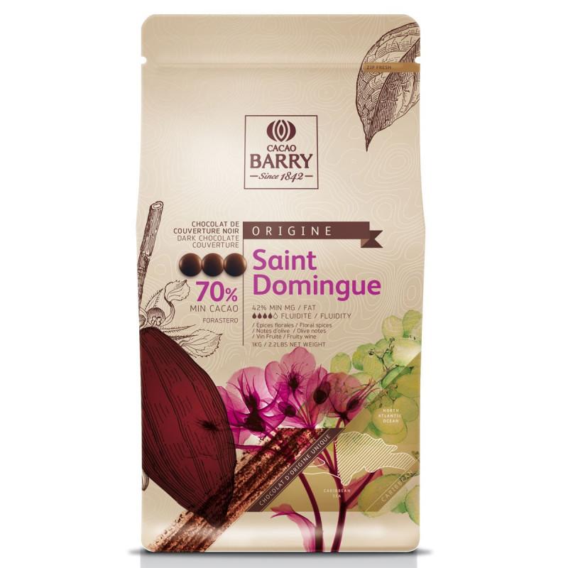 Chocolate negro al 70% Origen Santo Domingo Cacao Barry