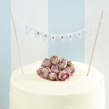 Topper para tarta Mr & Mrs Ginger Ray