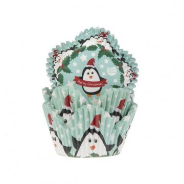 Cápsulas cupcakes Merry Christmas Pinguino House of Marie