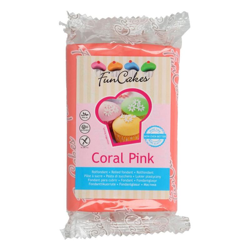 Fondant color Coral 250 gr Funcakes