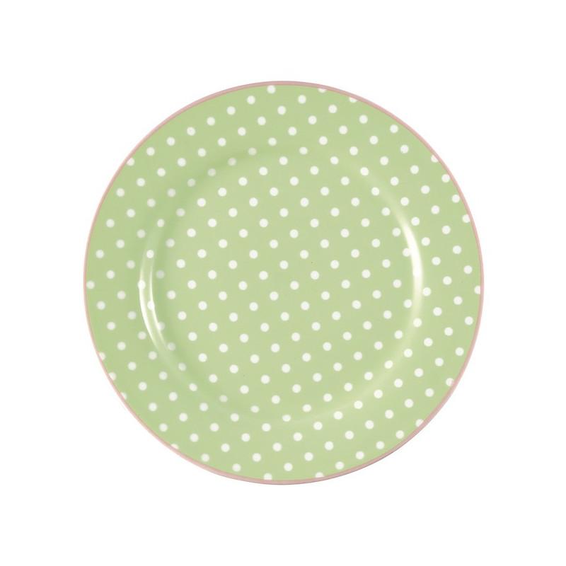 Plato de cerámica 20 cm Spot Pale Green Green Gate