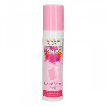 Spray Rosa Metalizado Perlado 100 ml Funcakes