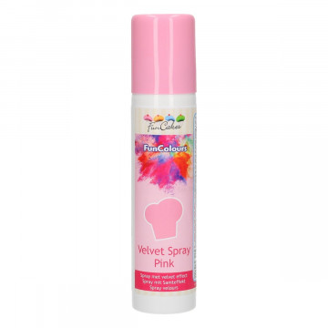 Spray efecto Terciopelo Rosa 100 ml Funcakes