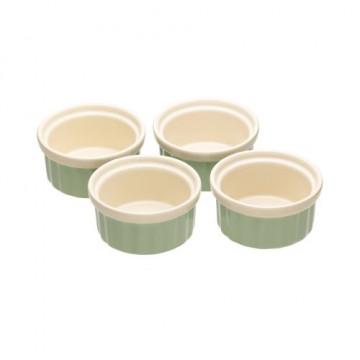 Pack de 4 boles Ramekin Verde Pastel Kitchen Craft