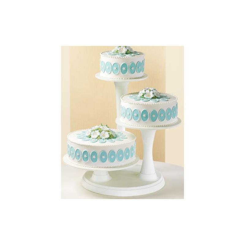 Stand presentación + pilares 3 tartas Wilton