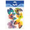 Pack 6 Mariposas de papel de azúcar Tonos Frios Modecor