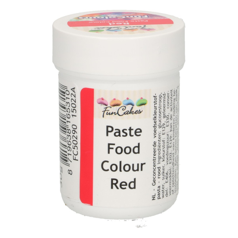 Colorante en pasta Rojo 30 gr Funcakes