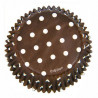 Capsulas cupcakes Dots Brown Marrón Wilton