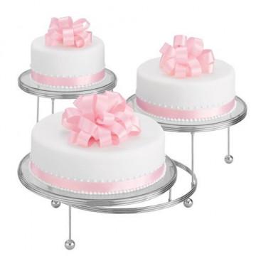 Stand presentación 3 tartas modelo básico Wilton