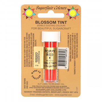 Colorante en polvo Poppy Red Blossom Sugarflair