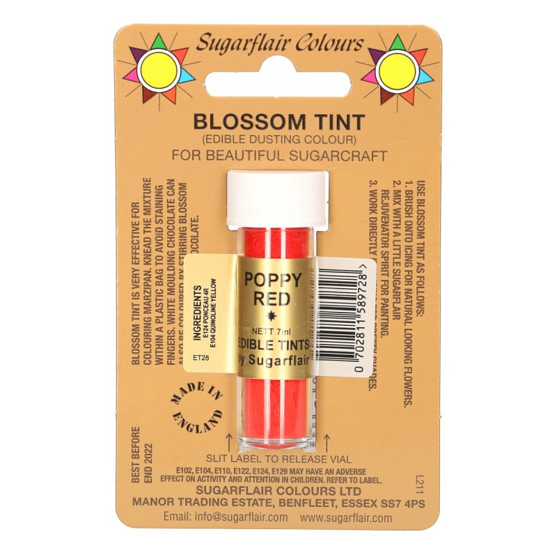 Colorante en polvo Poppy Red Blossom Sugarflair