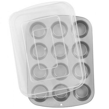 Molde cupcakes con tapa transportadora Wilton