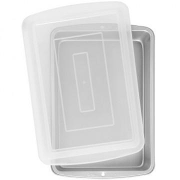 Molde rectangular con tapa transportadora Wilton