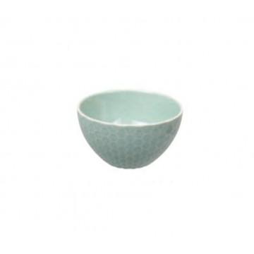 Bol de cerámica Panel de Abeja Verde Menta Textured Tokyo Design Studio