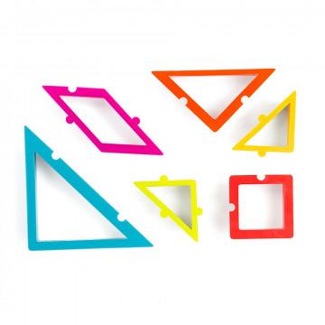 Pack 6 cortantes Triángulos Geometría Decora Italia