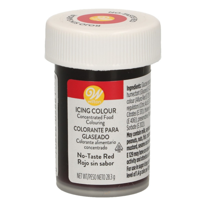 Colorante en gel Rojo sin sabor Wilton