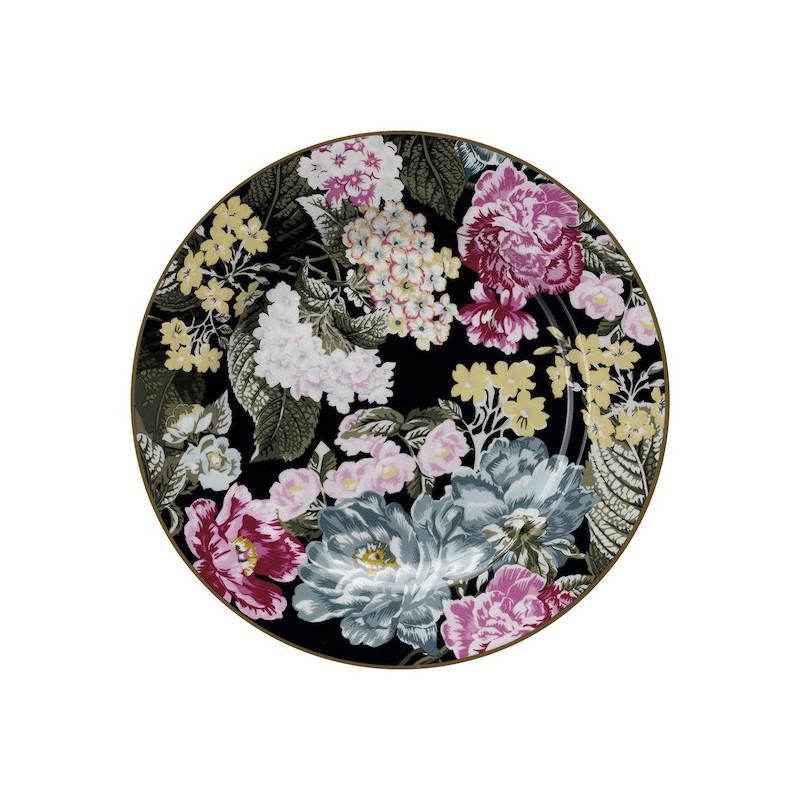 Plato de cerámica 20 cm Adele Black Green Gate