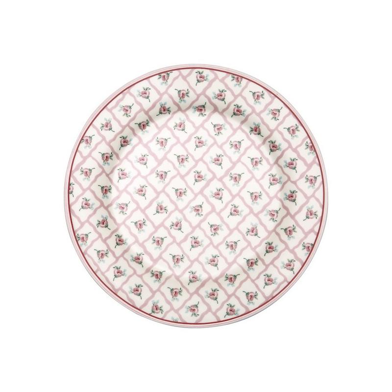 Plato de cerámica 20 cm Rita Pale Pink Green Gate